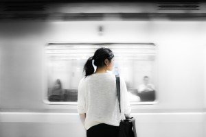 Woman Looking At Metro_Image